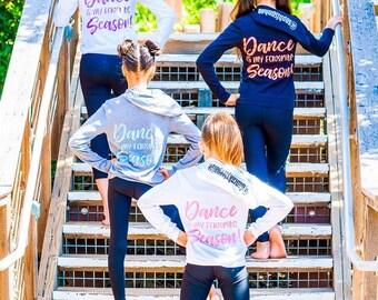 Dance is my Favorite Season Custom Girls Sweatshirt, Dance Team Photoshoot, Custom Dance Apparel