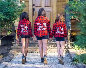 Buffalo Plaid Flannels for Dancers, 'Tis The Season Flannels, Apparel for Dancers, Girls Activewear