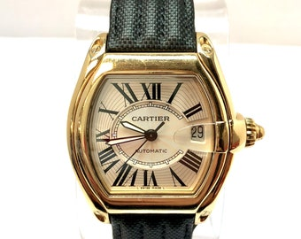 39785df20590 CARTIER ROADSTER Date Automatic 18K Solid Yellow Gold Men s Watch CARTIER  Band