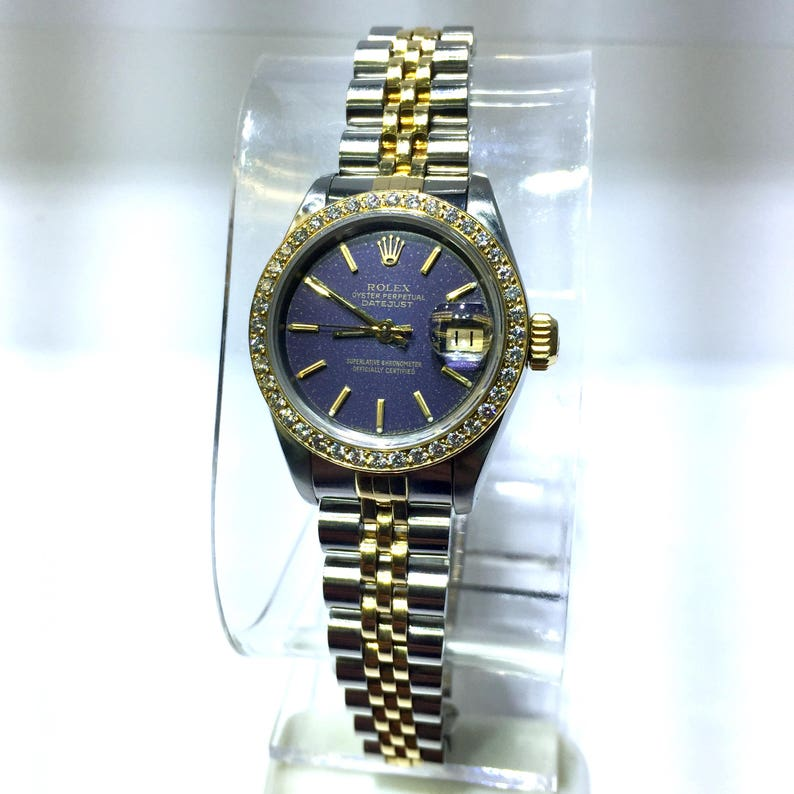 961e15326b23 ROLEX Oyster Perpetual DATEJUST 18K Yellow Gold   Steel Ladies