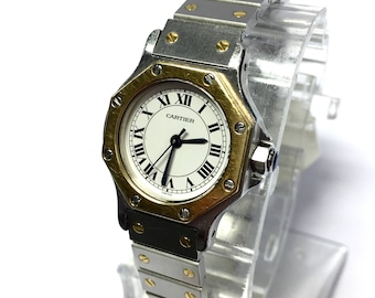 CARTIER OCTAGON 18K Gold & Stainless Steel Automatic Ladies Watch
