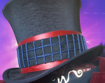 95da44c3b55 Willy Wonka Top Hat Replica Prop - Tim Burton Charlie and the Chocolate  Factory