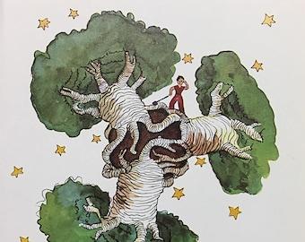 The Little Prince   Vintage Book Art   Antoine de Saint-Exupéry   Vintage Nursery Decor   Le Petit Prince