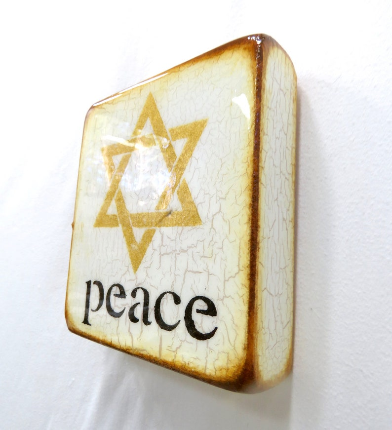 Antique IVORY GoldenStarOFDavid Shalom peace image 0