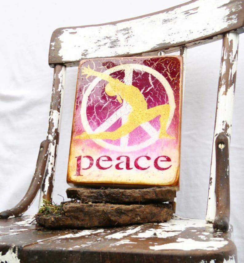 Ombred Fuchsia to White Golden Yoga Peace  image 0
