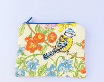 Blue tit coin purse