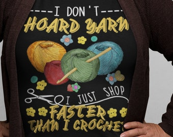 I Dont Hoard yarn Short-Sleeve Unisex T-Shirt