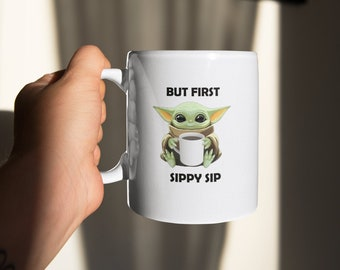 But first Sippy Sip White Coffee Mug Made to Order
