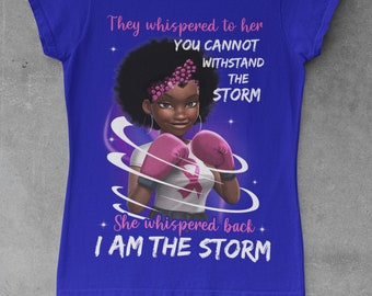 They whispered to her Cancer Awareness Short-Sleeve Unisex T-Shirt