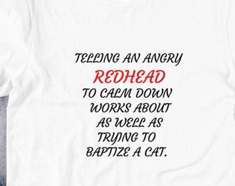 Telling An Angry Redhead Short-Sleeve Unisex T-Shirt