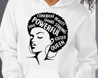 Powerful Strong Gifted Hooded Sweatshirt