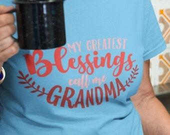 My Greatest Blessings Call Me GRANDMA Unisex Tee