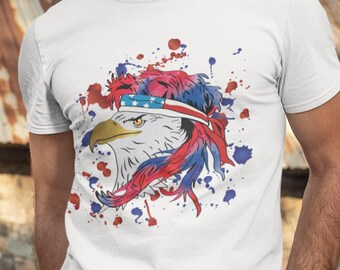 Red White Blue Eagle Short-Sleeve Unisex T-Shirt