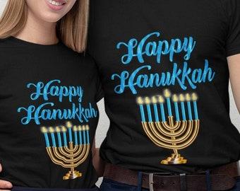 Happy Hanukkah Short-Sleeve Unisex T-Shirt