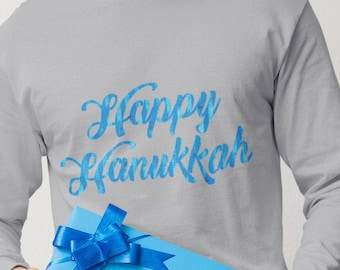 Unisex Happy Hanukkah Long Sleeve Tee