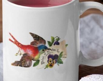 Far A Way Friends Ceramic White Glossy Coffee Mug