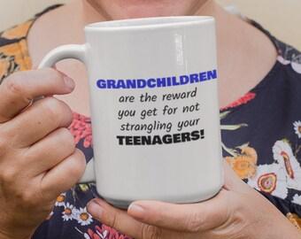 Grand Children Are The Reward Ceramic Mug