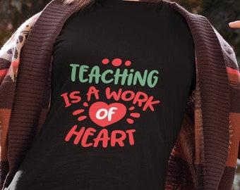 Teaching is a Work of Heart Unisex Short Sleeve T-Shirt