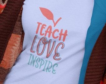 Teach Love Inspire Unisex Short Sleeve T Shirt