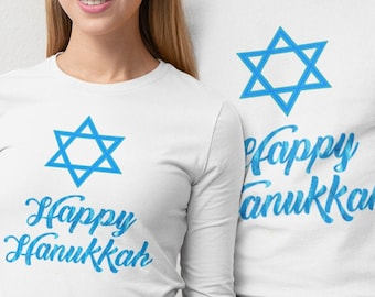 Happy Hanukkah Unisex Long Sleeve Tee
