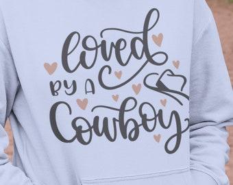 Loved By A Cowboy Unisex Hoodie