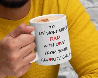 To My Wonderful Dad Ceramic Mugs