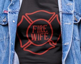 Fire Wife  Unisex Short Sleeve T Shirt