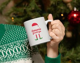 Seasons Greetings Coffee Hot Chocolate Mug