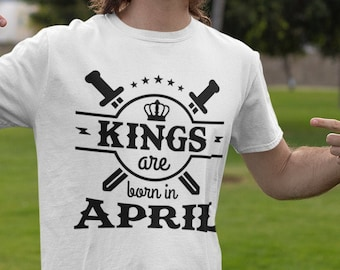 Kings are Born In Short-Sleeve Unisex T-Shirt