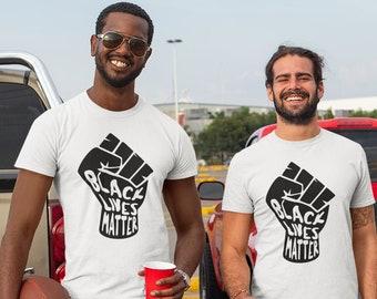 Black Lives Matter Fist Unisex T Shirt