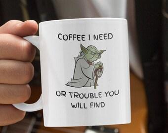 Coffee I Need White glossy coffee mug