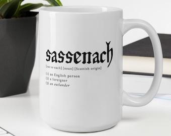 Sassenach White glossy coffee mug