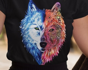 Painted Lobo Wolf Unisex Short Sleeve T-Shirt