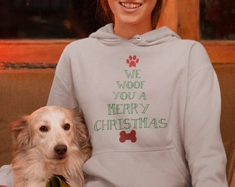 We Woof You A Merry Christmas Unisex Hoodie