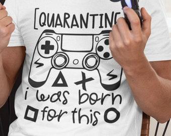 Quarantine Gamer Short-Sleeve Unisex T-Shirt