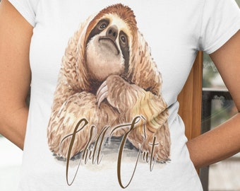 Sloth Chill Out Short-Sleeve Unisex T-Shirt