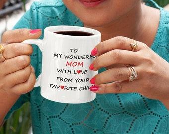 To My Wonderful MOM Ceramic Mug