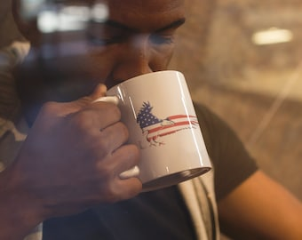 Patriotic Eagle Coffee Mugs