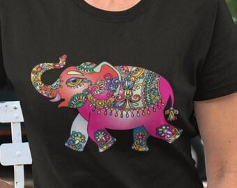 Painted Elephant  Unisex Short Sleeve T-Shirt