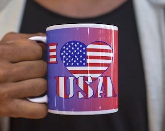 Spirit Of 76 Patriotic Ceramic Mug
