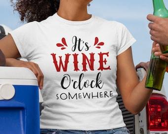 Its Wine O'Clock Unisex Short Sleeve T Shirt