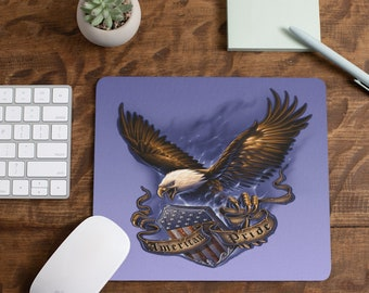 American Pride Eagle  Mousepad Choice of Four Colored backgrounds