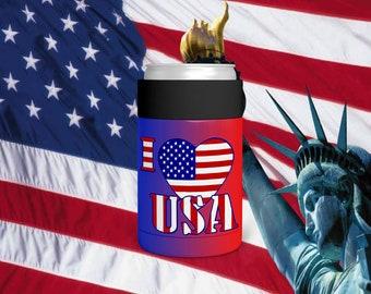 I Love America Can Holder