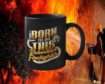 Born to do this 15 oz. Black Mug