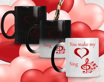 You Make My Heart Sing Color Changing Mug
