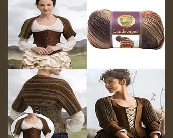 Outlander Inspired Hand Knitted Claires's  Captivating Castle Leoch Shrug  V5723