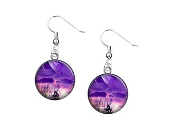 Beautiful Earrings Galaxy Universe Sci Fi Space Cosmo Choice of designs V3673