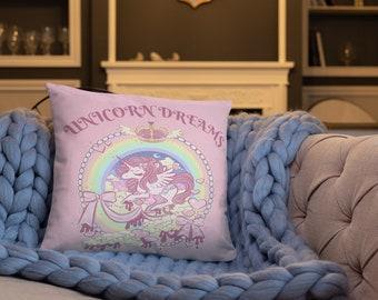 Unicorn Dreams Basic Pillow