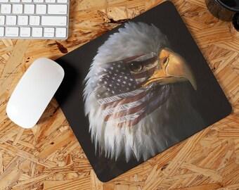 Patriotic Eagle Right Side Mousepad