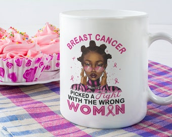 Breast Cancer White Glossy Coffee Mug